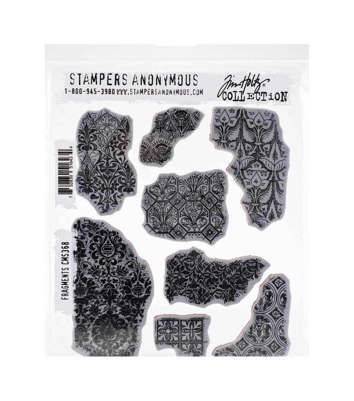 Tim Holtz Cling Stamps 7\u0027\u0027X8.5\u0027\u0027-Fragments