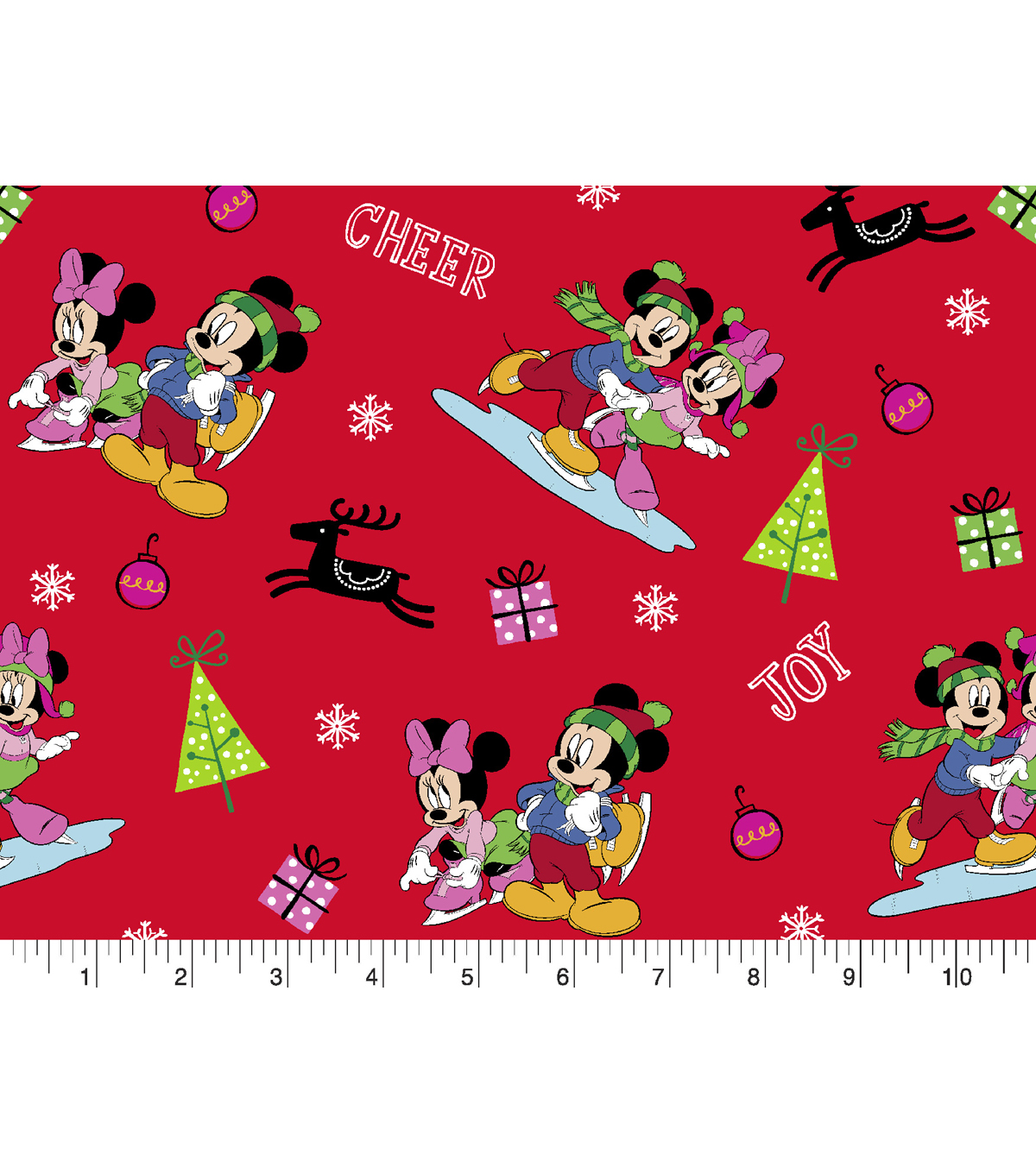 Christmas Cotton Fabric 43\u0022-Mickey & Friends Home for the Holidays