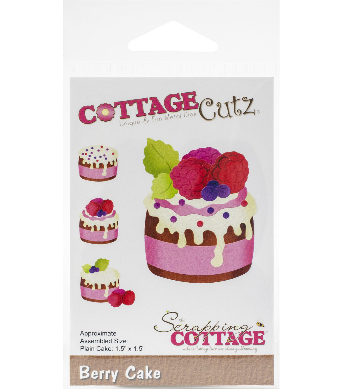 CottageCutz Die-Berry Cake 1.5\u0022X1.5\u0022