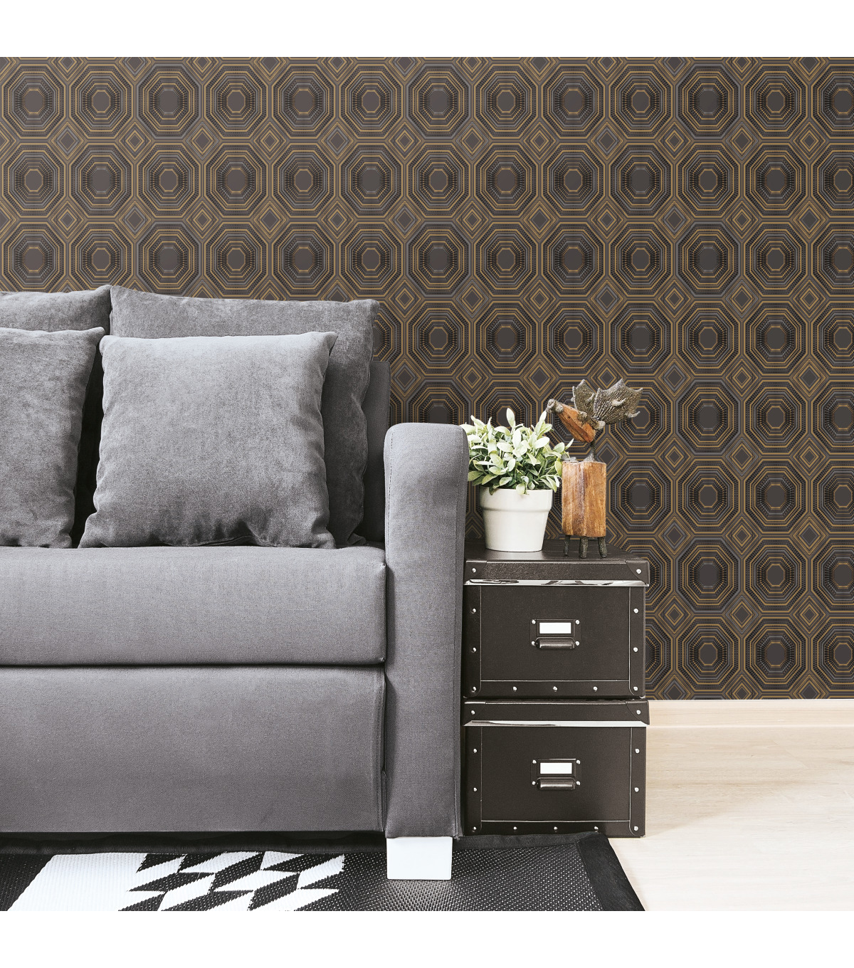 York Wallcoverings Wallpaper-Black Bees Knees