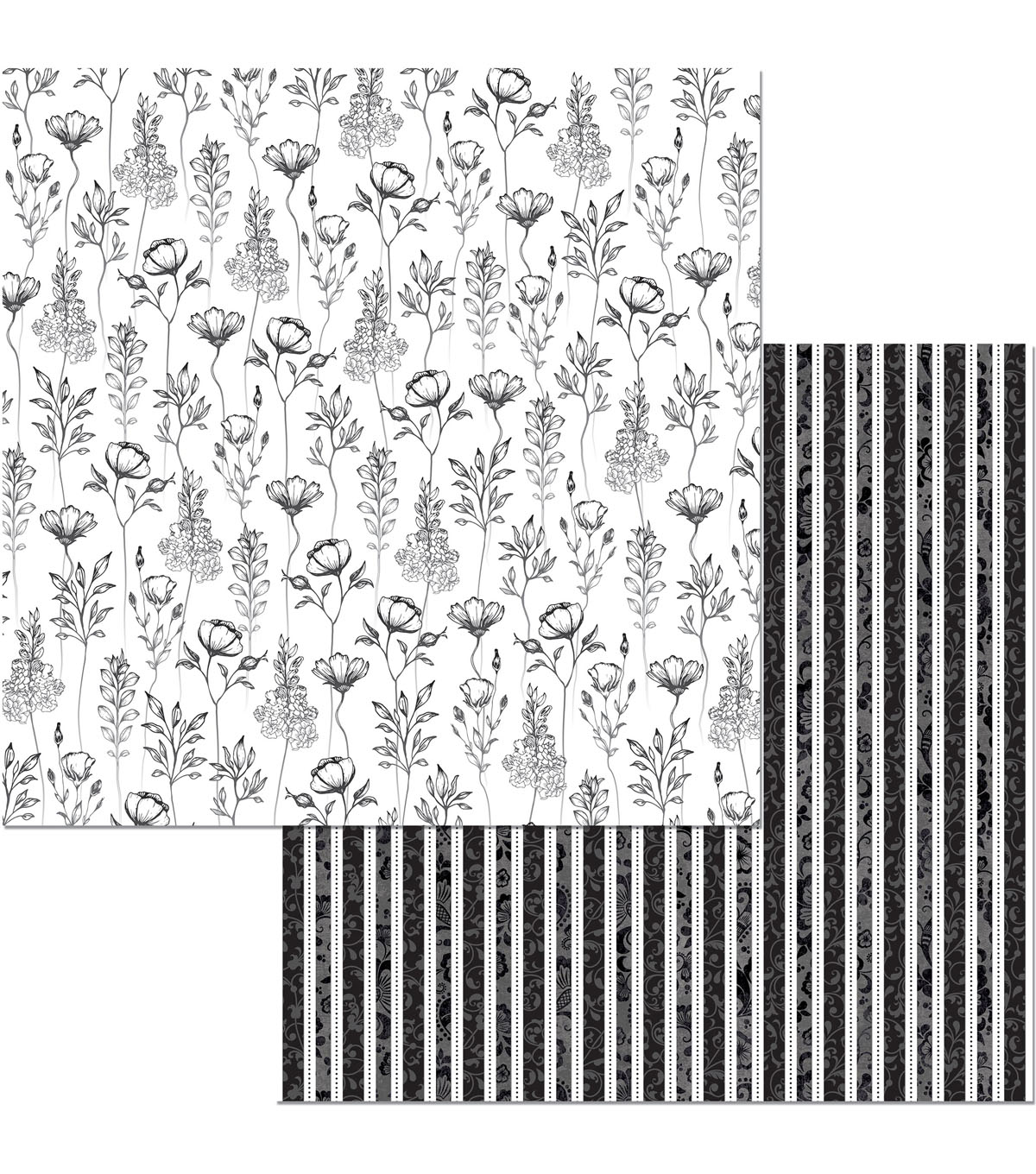 BoBunny Black Tie Affair 25 pk 12\u0027\u0027x12\u0027\u0027 Double-Sided Cardstock-Glamour