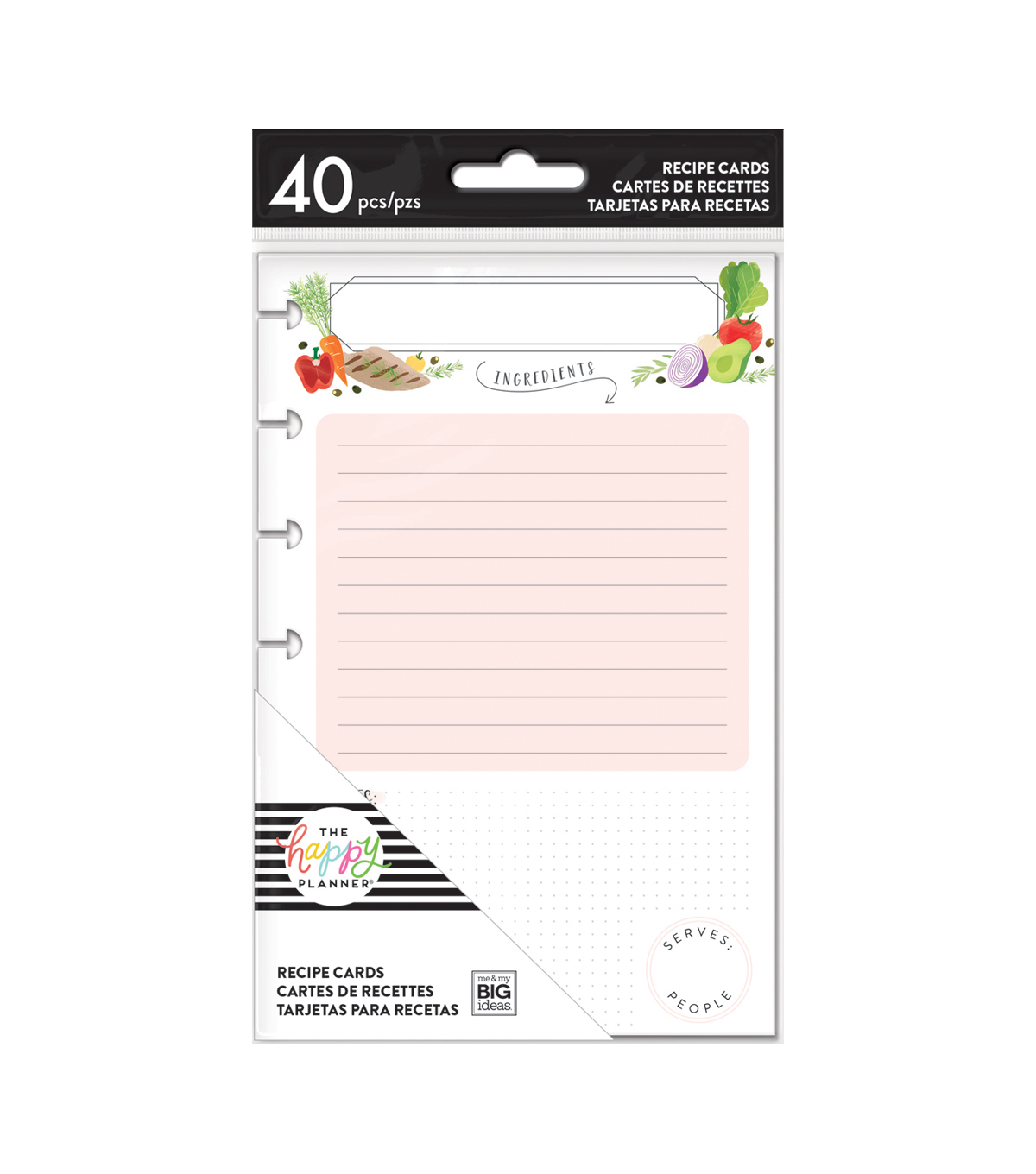 The Happy Planner 40 pk Recipe Cards