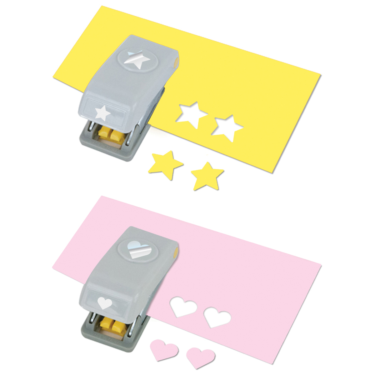 Mini Punches 2/Pkg-Heart & Star