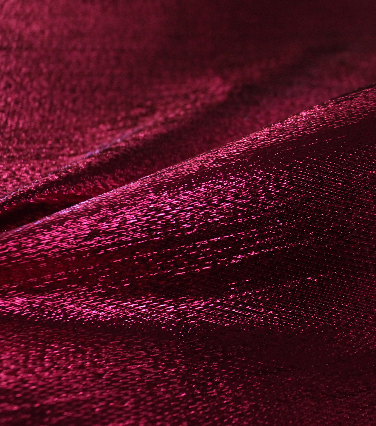 Metallic Apparel Lame Fabric -Shiny Hot Pink
