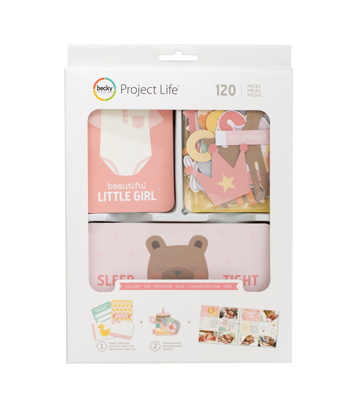 Project Life Becky Higgins 120 Pack Value Kit-Lullaby Girl