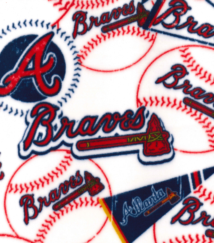 Atlanta Braves Fleece Fabric-Vintage