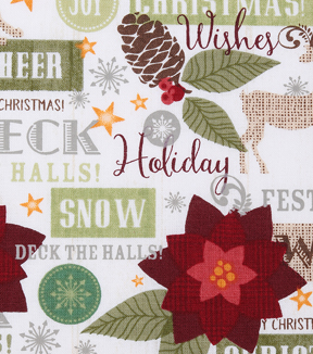 Christmas Cotton Fabric-Seasons Greetings
