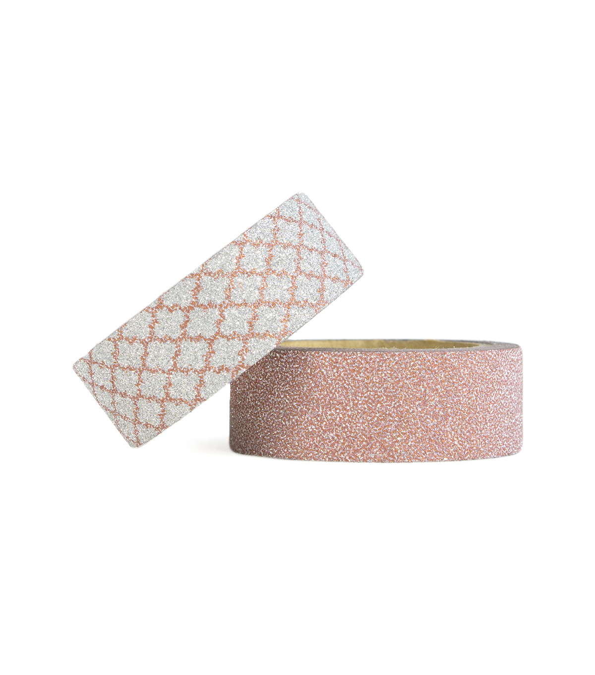 Park Lane 2 pk Glitter Washi Tapes 0.6\u0027\u0027x5 yds-Rose Gold