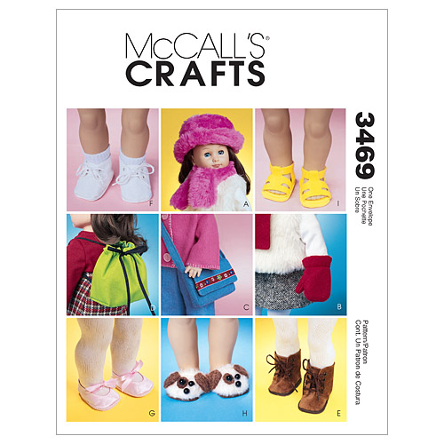 McCall\u0027s Crafts Doll Clothes-M3469