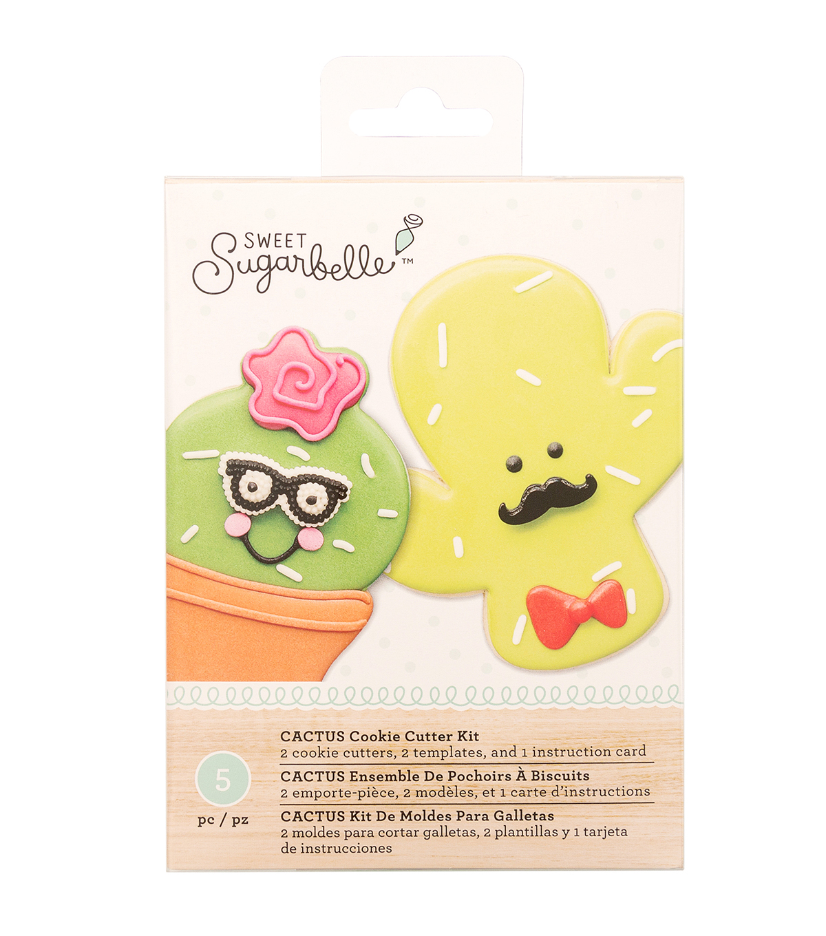 Sweet Sugarbelle 5 pk Cactus Specialty Cookie Cutter Set