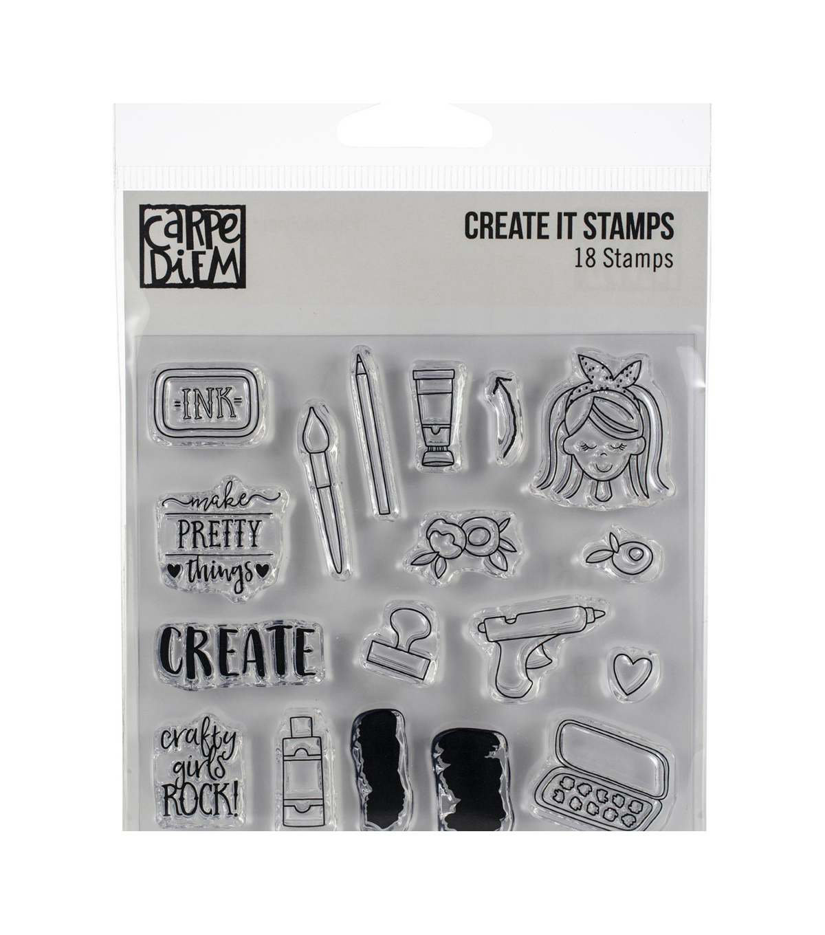 Simple Stories Carpe Diem 18 pk Photopolymer Clear Stamps-Create It