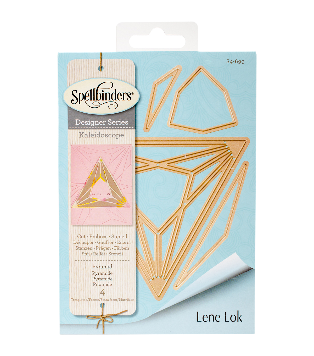 Spellbinders Shapeabilities 4 Pack Etched Dies-Pyramid