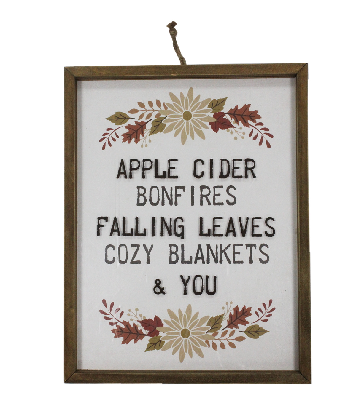 Simply Autumn Medium Glass Framed Wall Decor-Fall Words