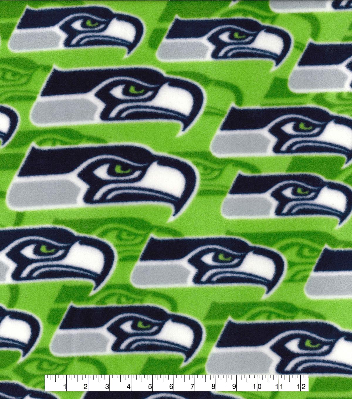 Seattle Seahawks Fleece Fabric -Logo