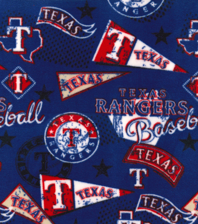 quality design ae80d 5a06e Texas Rangers Fleece Fabric-Vintage