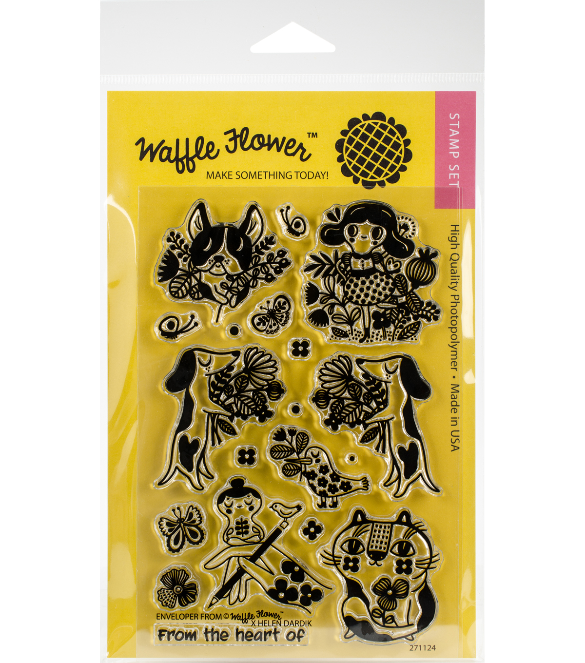 Waffle Flower Crafts 19 pk Clear Stamps 4\u0027\u0027x6\u0027\u0027-Enveloper From