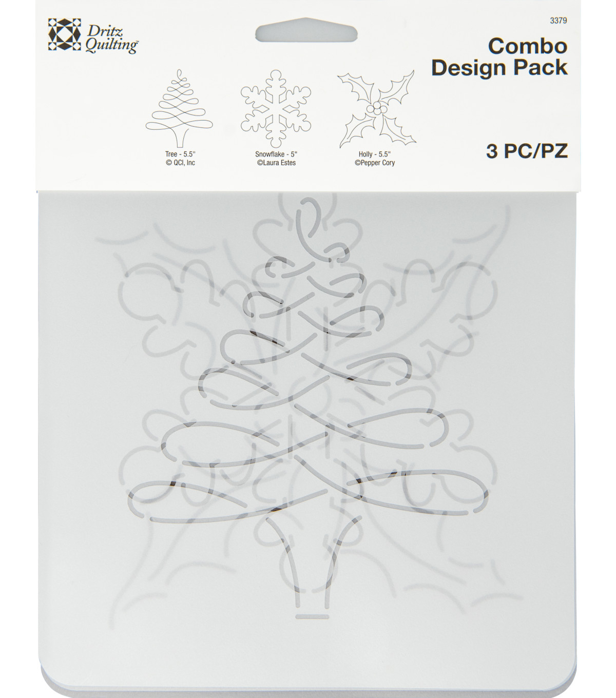 Dritz Quilting Combo Design Stencil Pack-Holiday