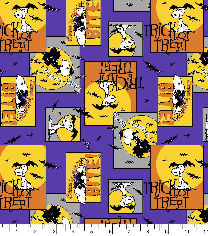 peanuts halloween cotton fabric 43 vampire snoopy joann