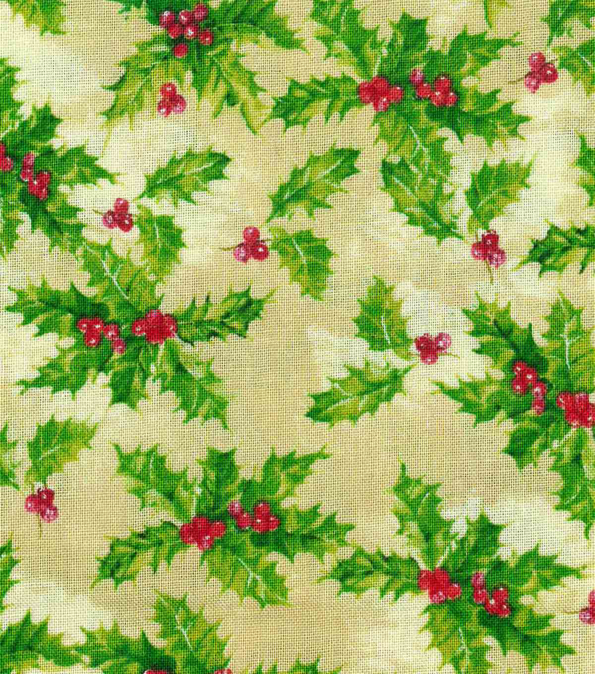 Christmas Cotton Fabric 43\u0022-Holly Berries