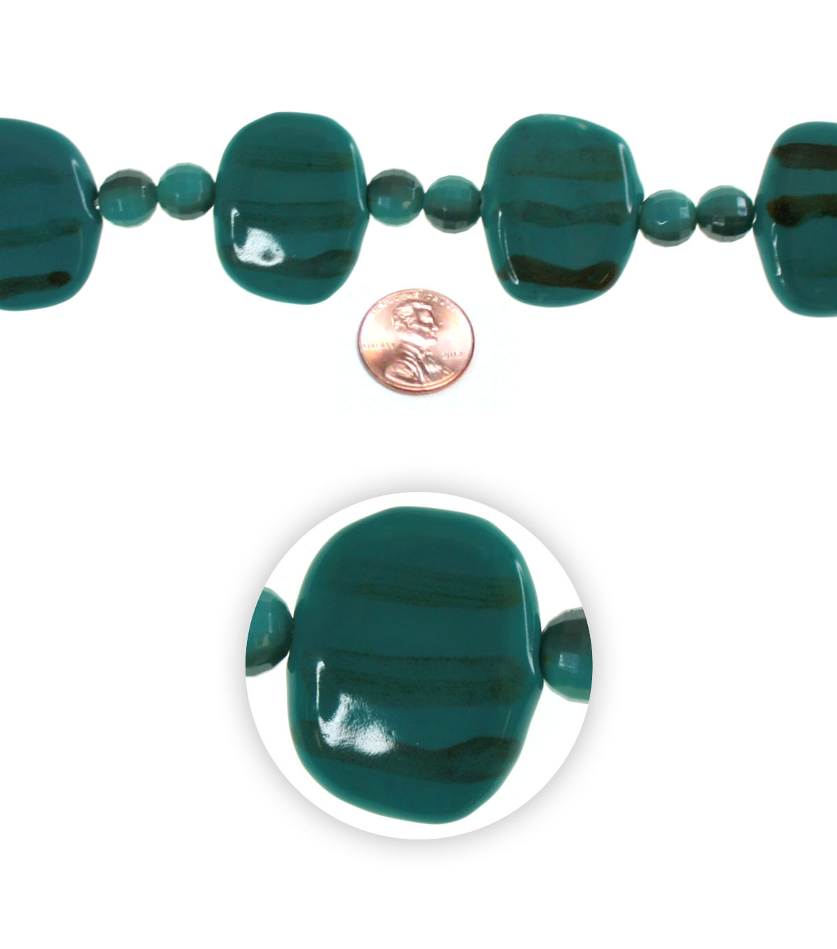 Advantus/Sulyn Mojave Bead Strand, Teal Bands