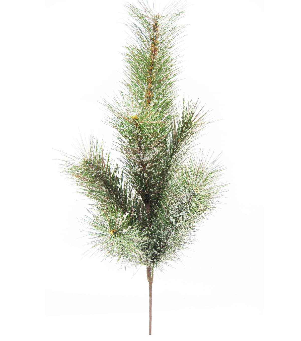 Handmade Holiday Christmas Flocked Pine Bush