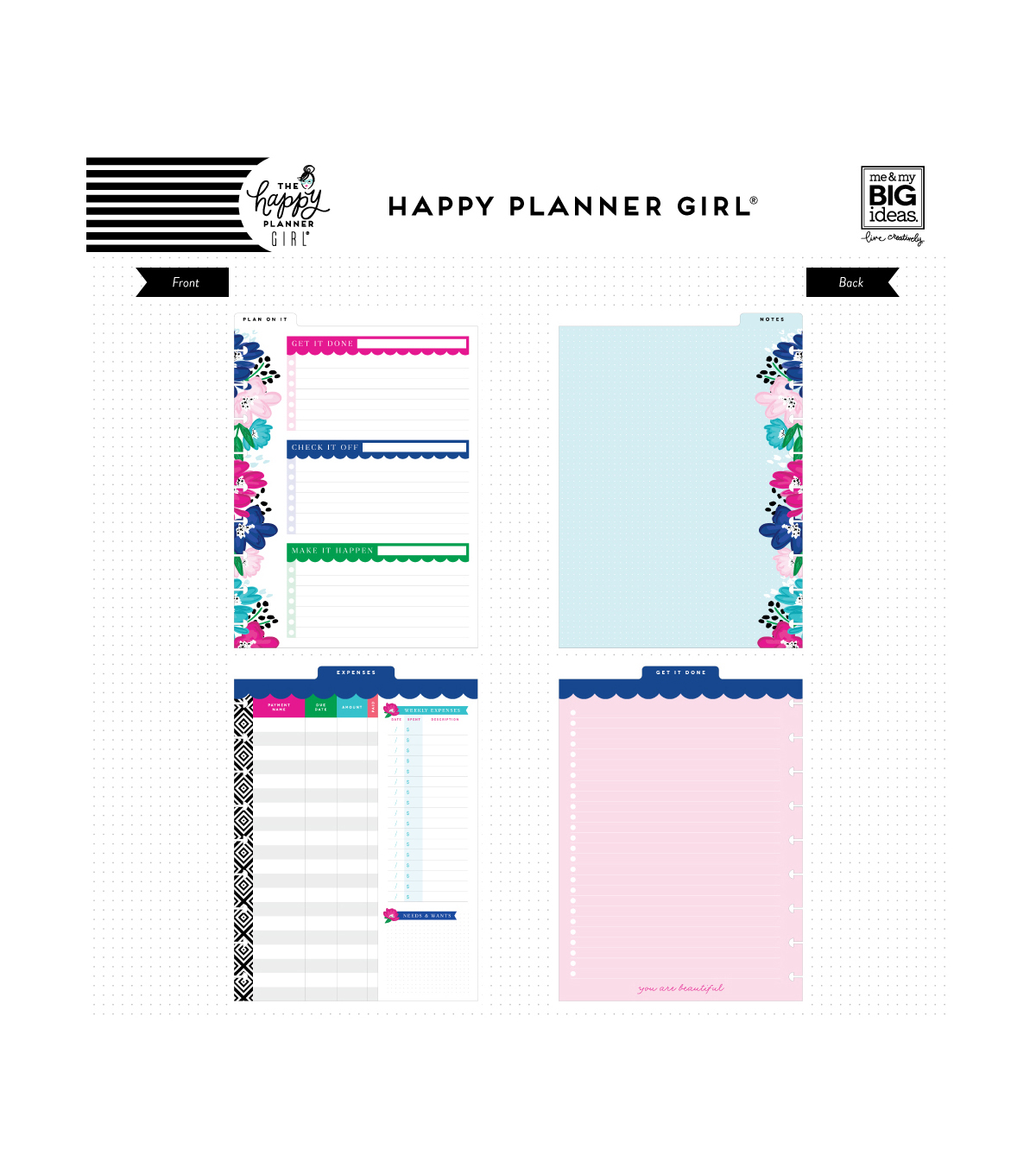 The Happy Planner Girl Classic Dry Erase Boards-Socialite