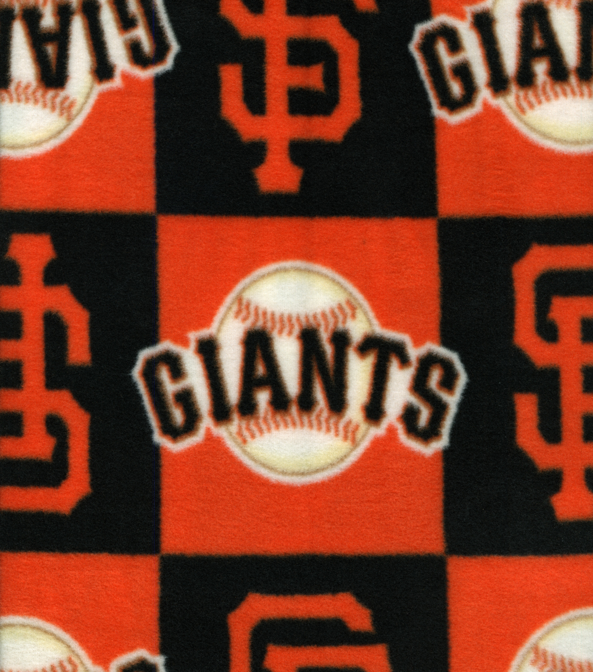 San Francisco Giants Fleece Fabric -Block