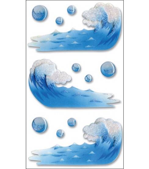 Vellum Layered Stickers-Waves