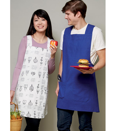 Kwik Sew Pattern K4210 Pullover Unisex Aprons with Straps-Size XS-XL
