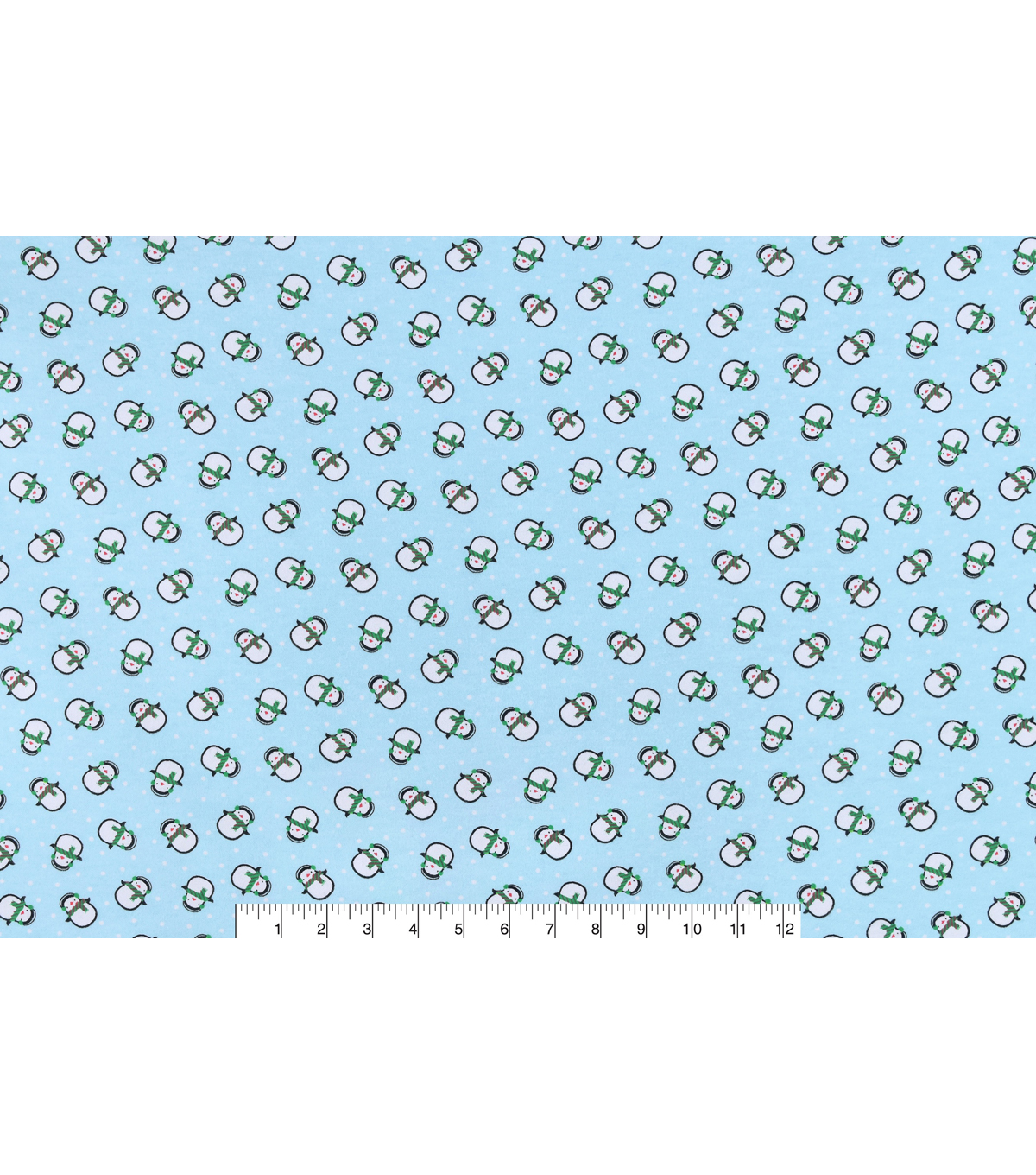 Snuggle Flannel Fabric -Round Penguin Tossed