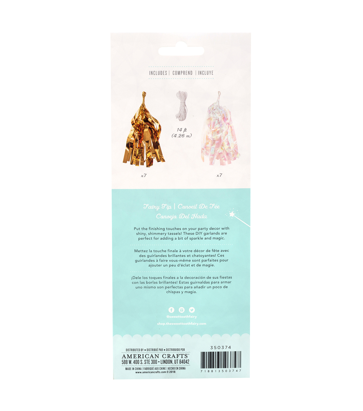 2e2d38fdb The Sweet Tooth Fairy Unicorn Party DIY Tassel Garland | JOANN