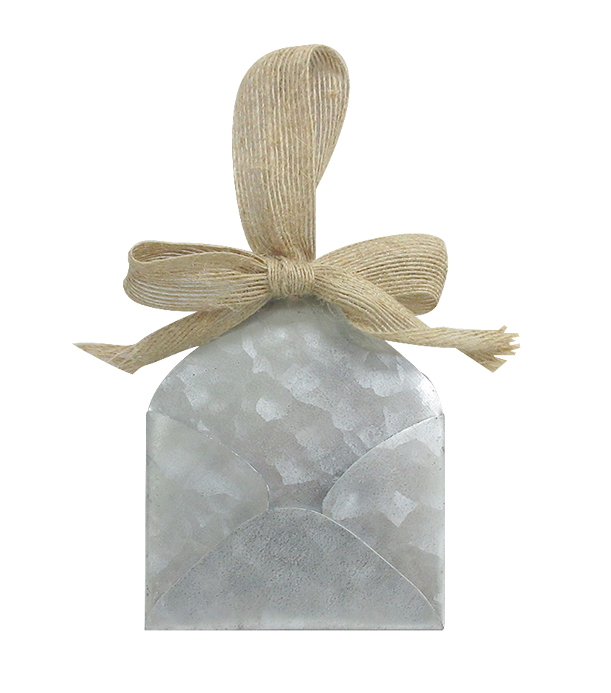 Galvanized Metal Envelope with Bow