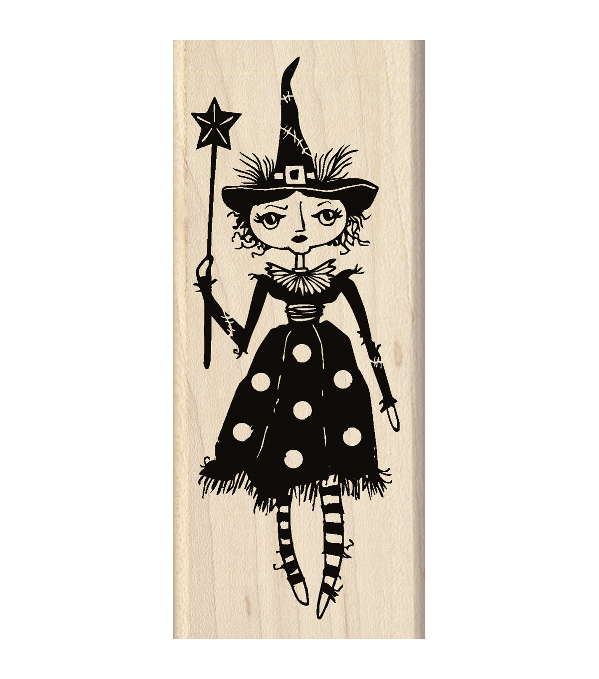 Inkadinkado 2\u0027\u0027x4.75\u0027\u0027 Mounted Rubber Stamp-Witch Doll