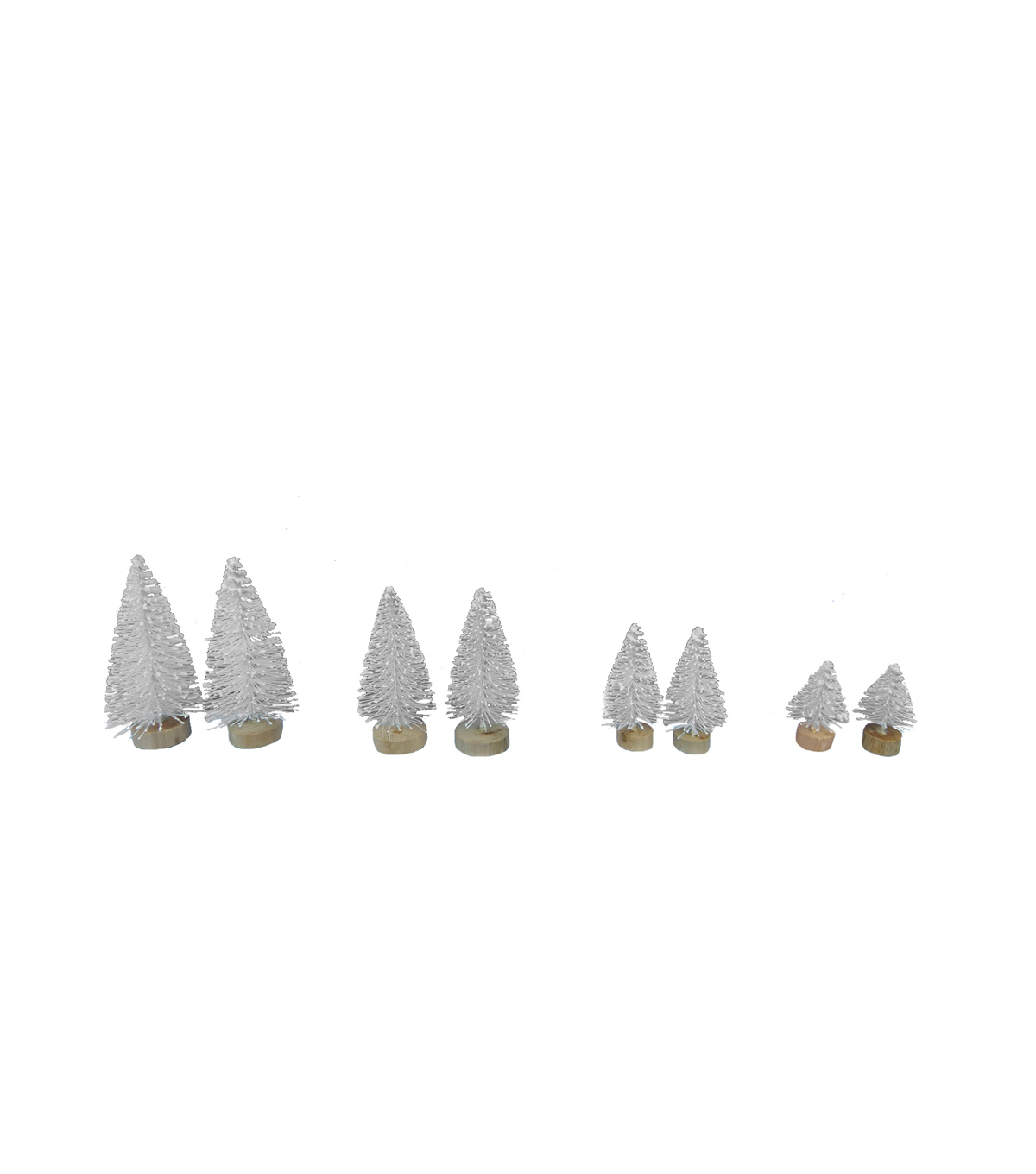 Maker\u0027s Holiday Christmas 8 pk Assorted Trees-White
