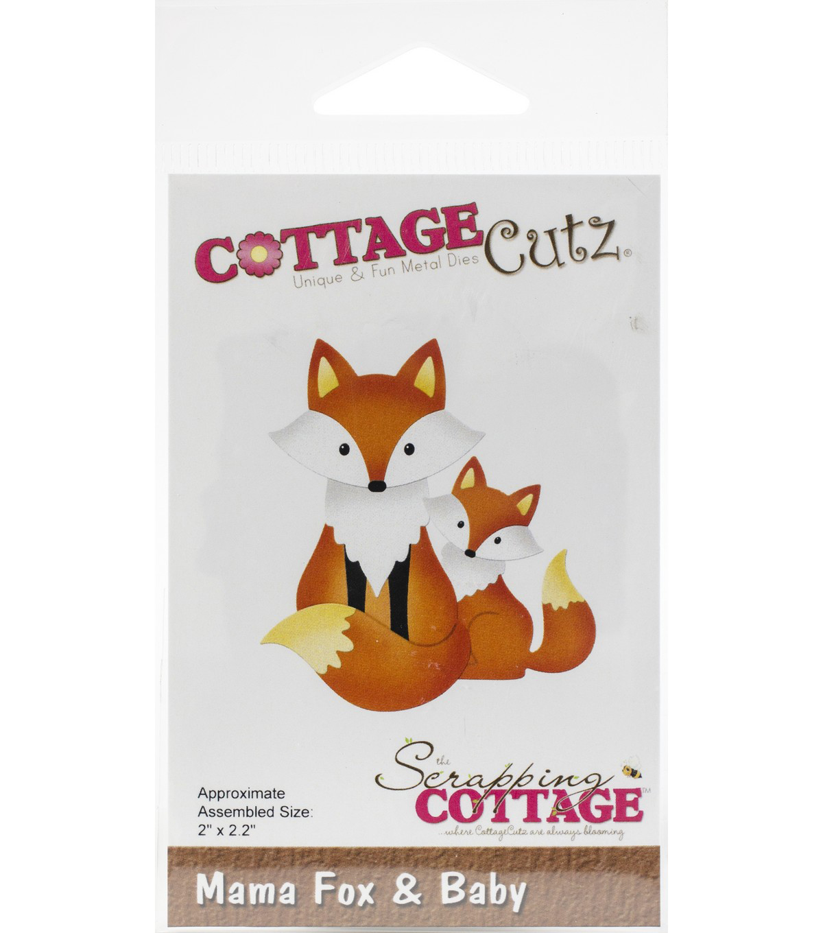 CottageCutz Die-Mama Fox & Baby 2\u0022X2.2\u0022