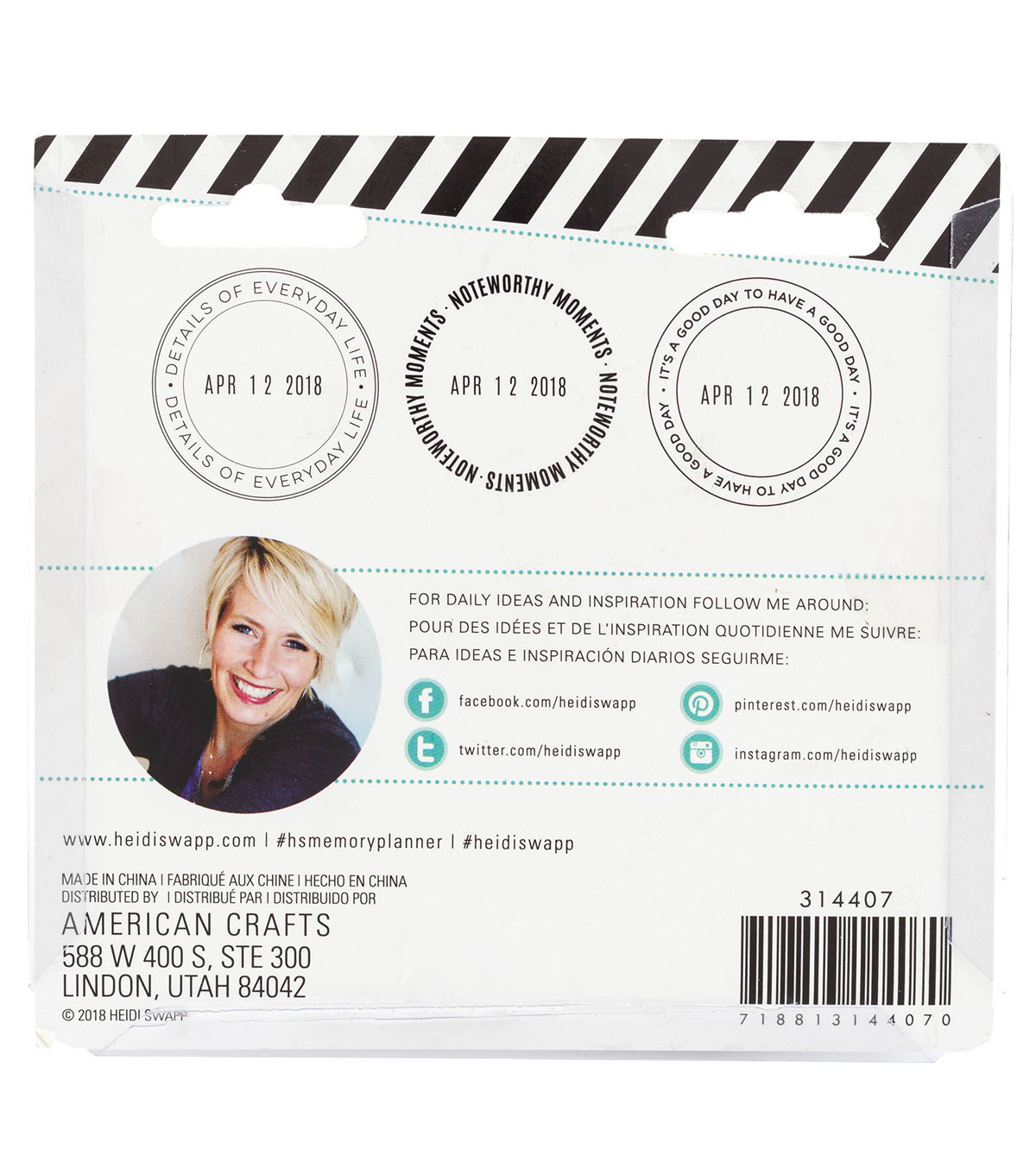 Heidi Swapp Color Fresh Magnetic Date Stamp with Stamp Circles