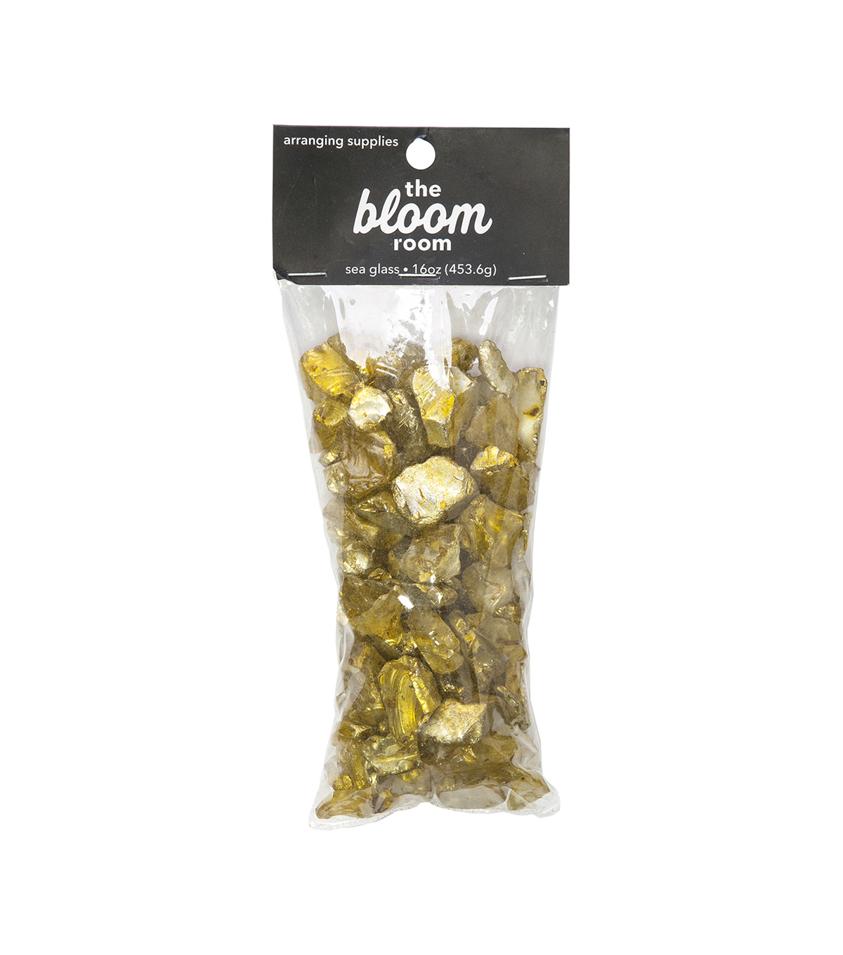 Bloom Room 16 oz. Electroplated Sea Glass-Yellow