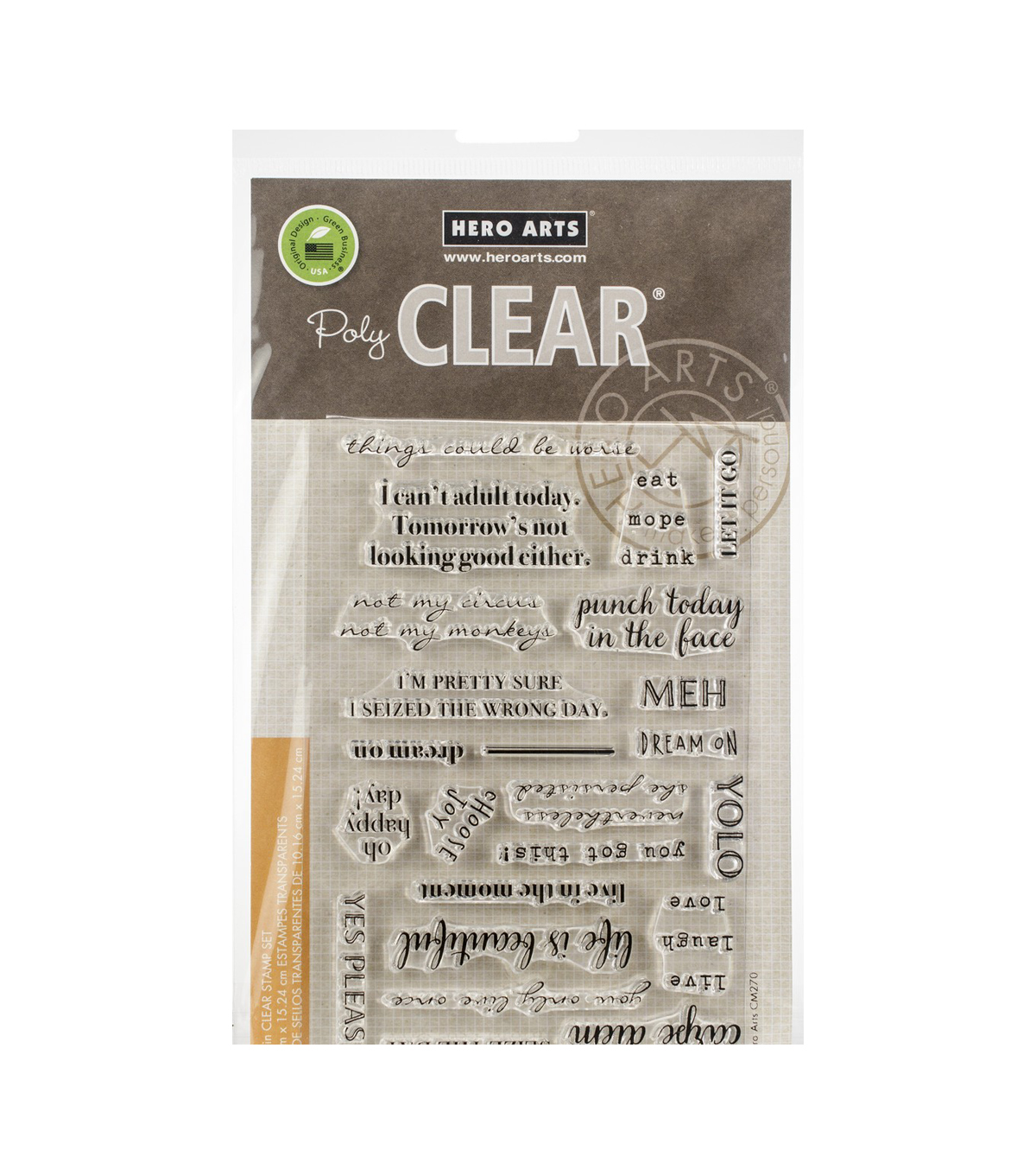 Hero Arts 23 pk Poly Clear Stamps-To Seize or Not to Seize