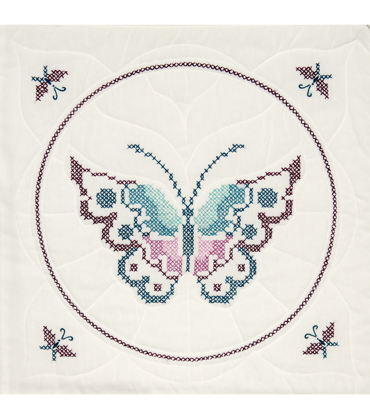 Fairway Stamped Quilt Blocks Butterfly