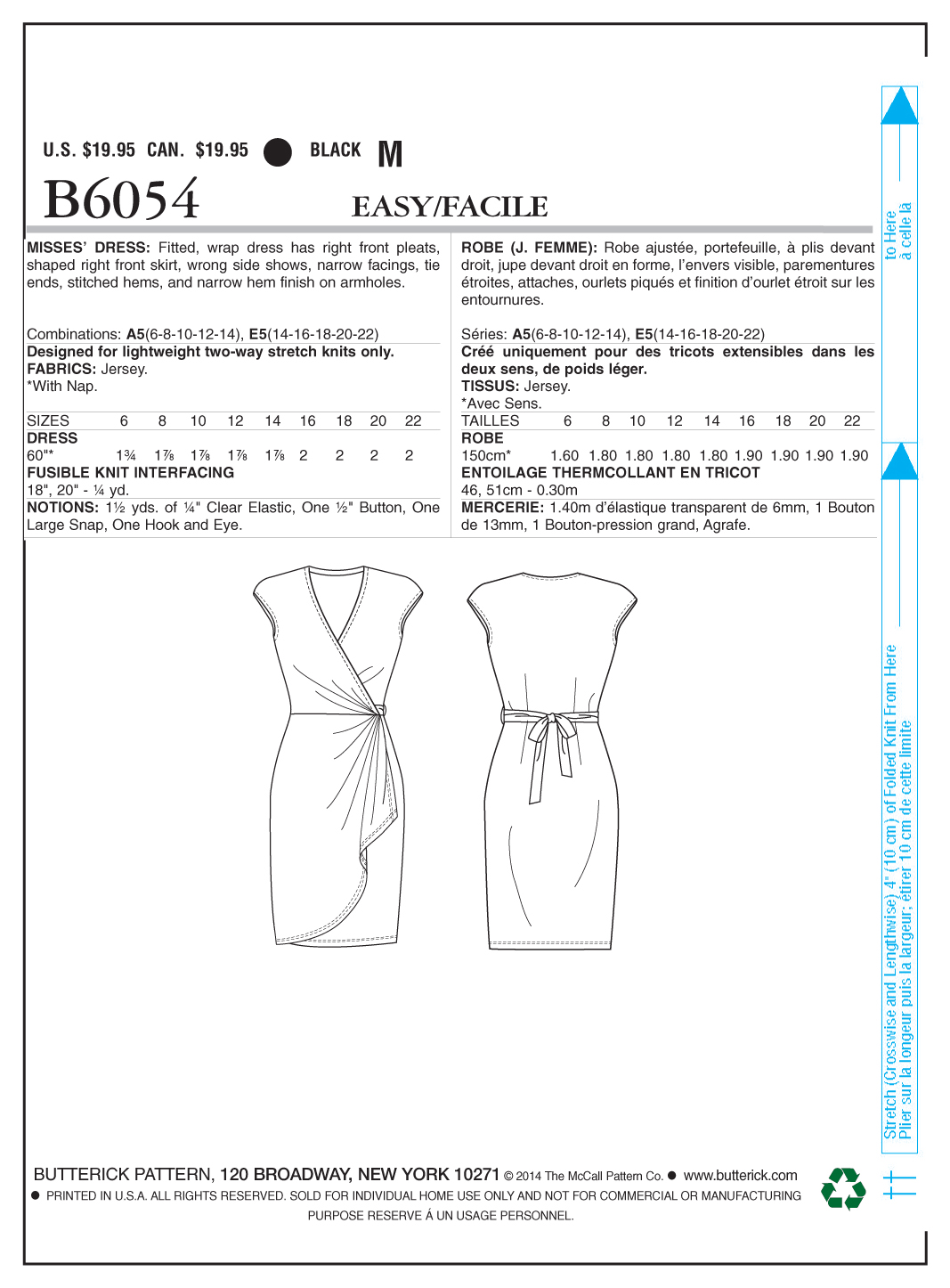 Butterick Misses Dress-B6054