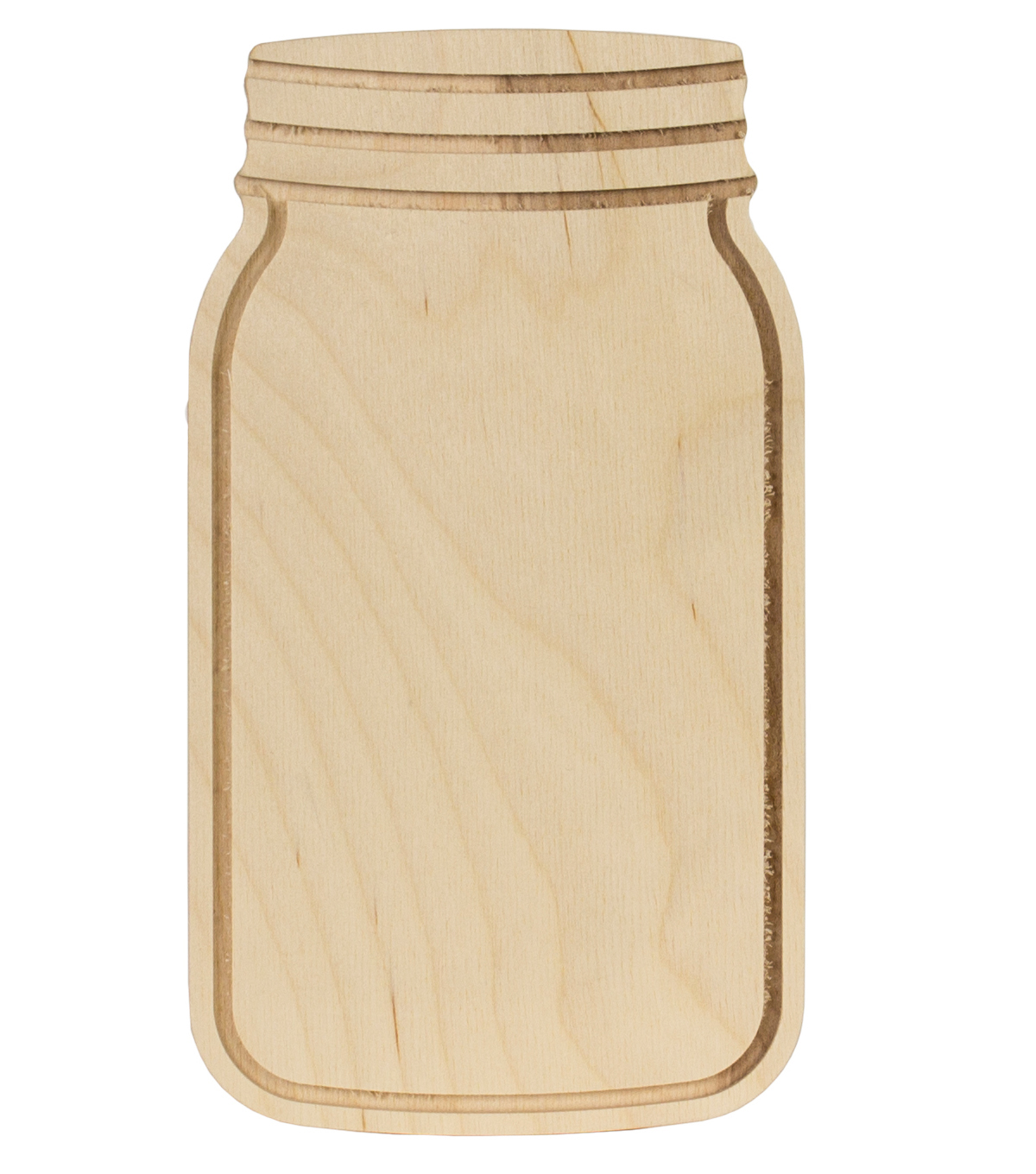 Unfinished Wood Surface-Mason Jar