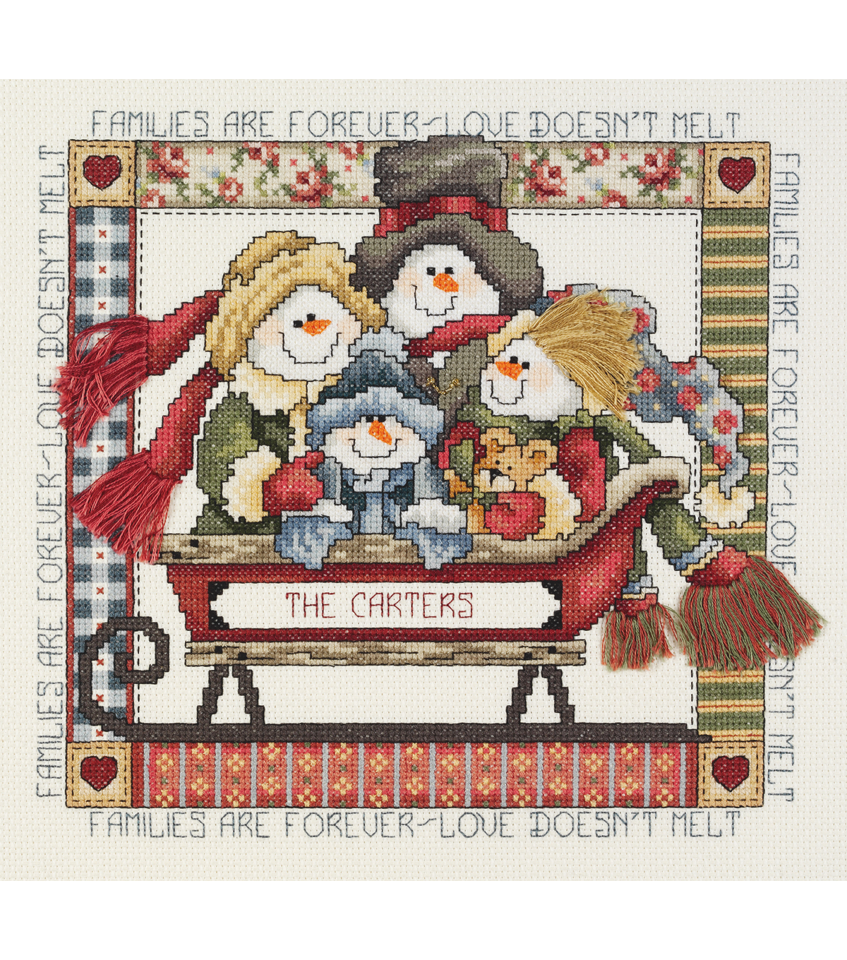 Janlynn Counted Cross Stitch Kit Families Are Forever