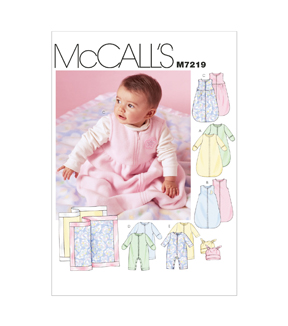 McCall\u0027s Pattern M7219 Infants\u0027 Casual Outfits-Size S-M-L-XL