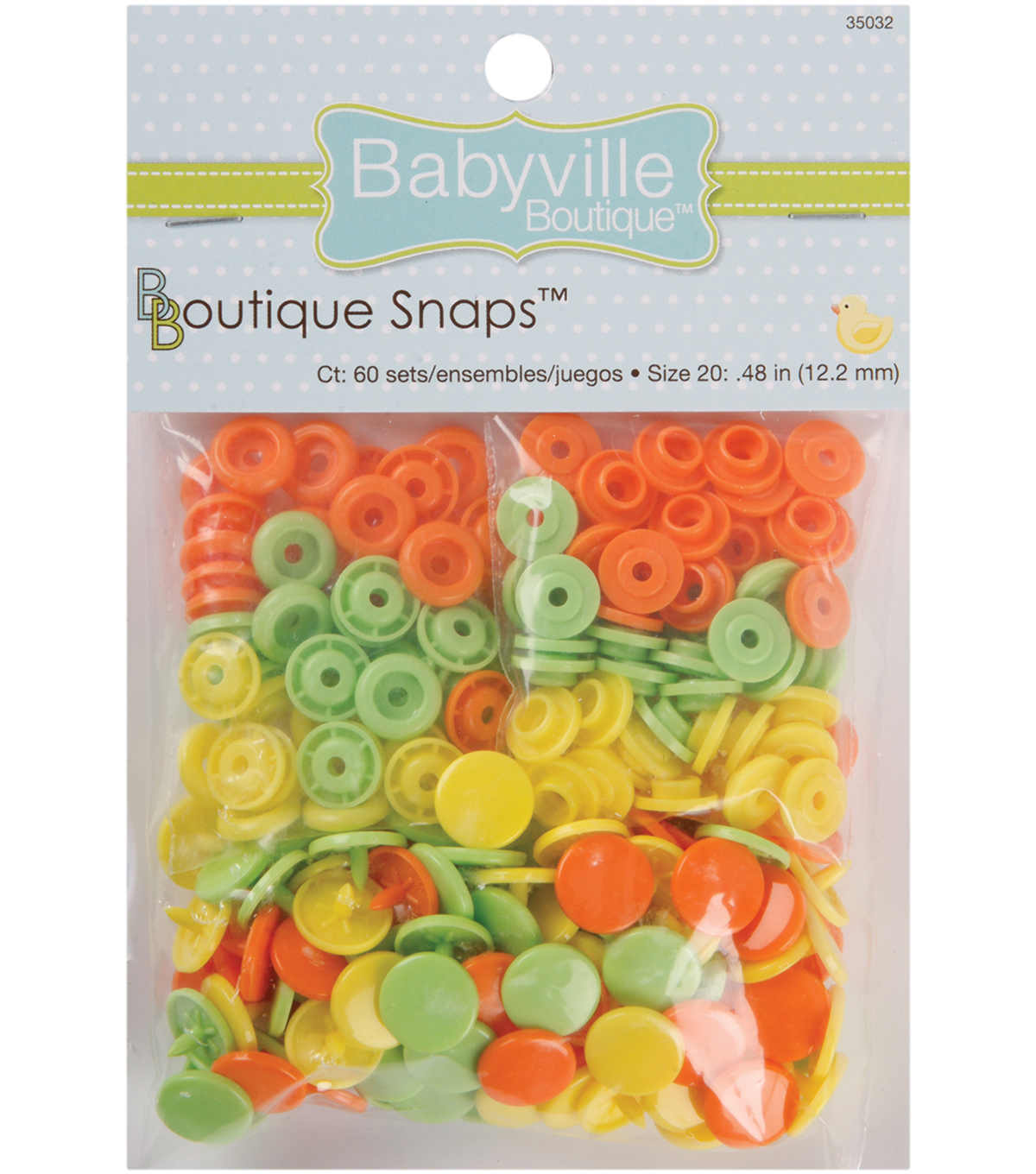 Babyville Solid Colored Snaps