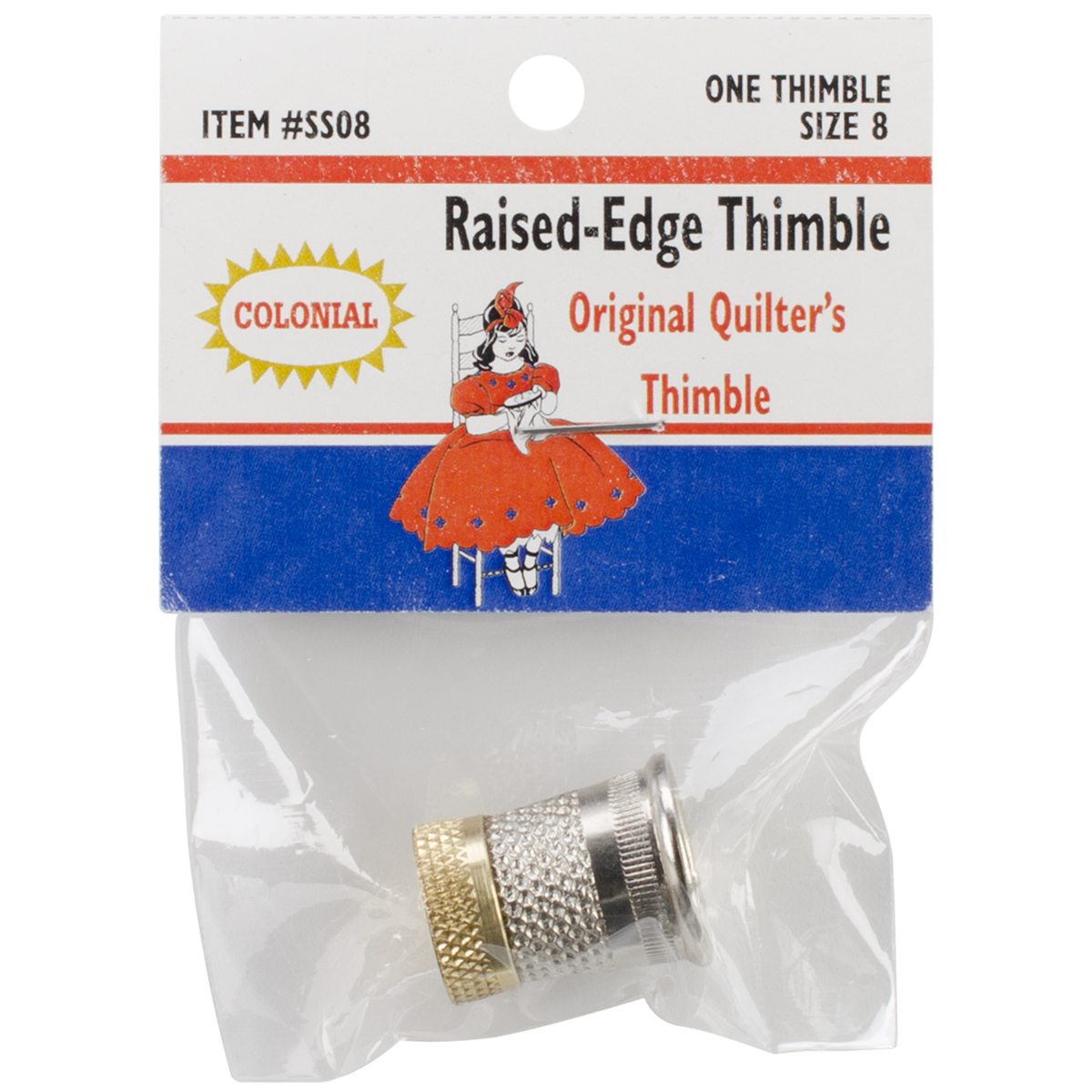 Raised-Edge Thimble-Size 8