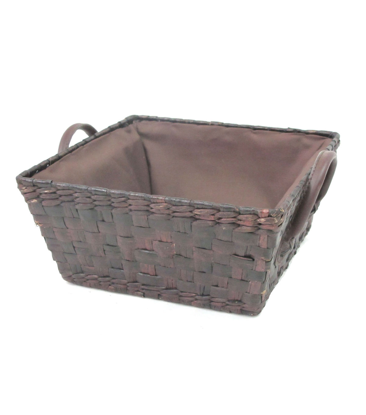 Organizing Essentials Square Stained Rush Basket