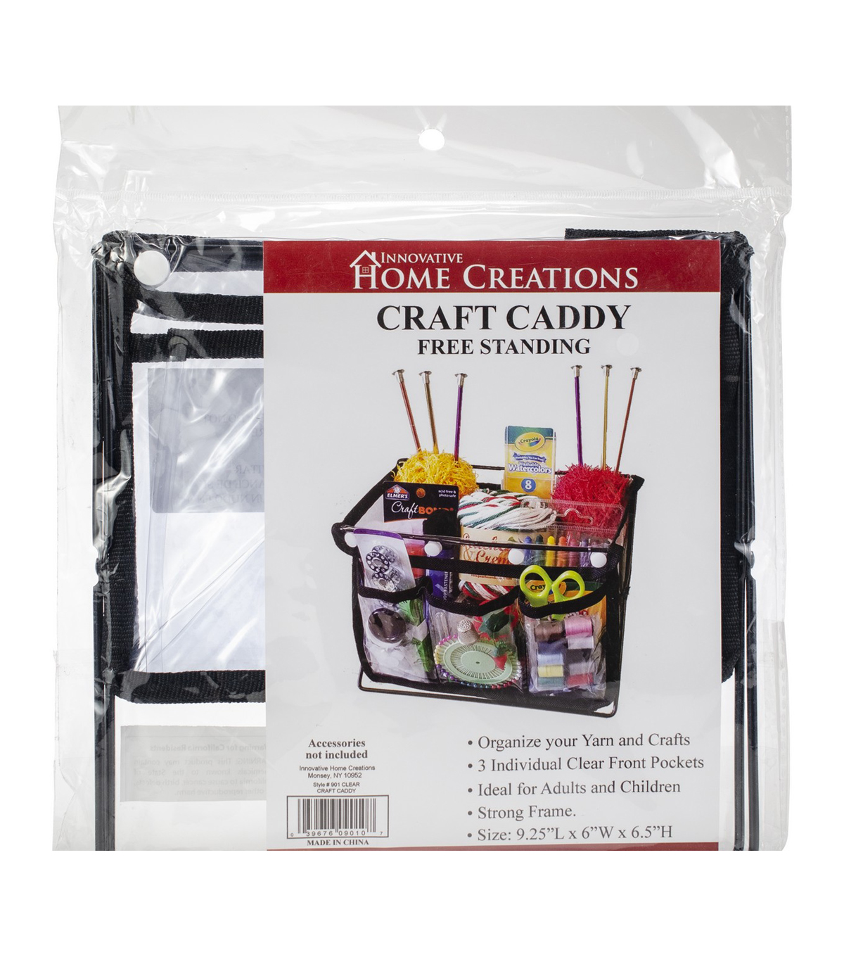 Innovative Home Creations Free Standing Craft Caddy with 3 Pockets