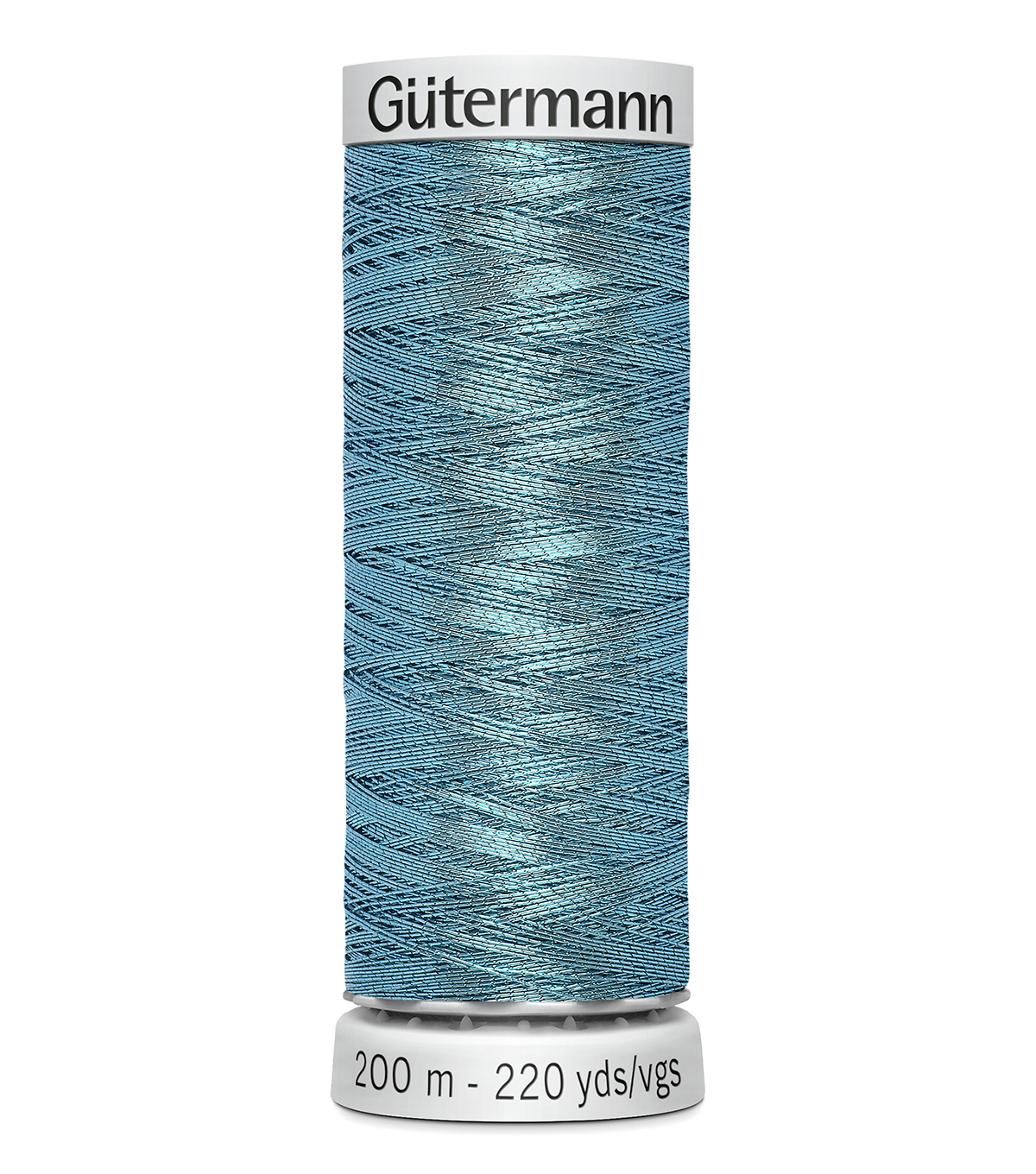 Gutermann 200M Dekor Thread, 200m Dekor Metallic-light Blue