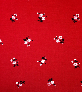 Knit Apparel Fabric 57\u0022-Red Ditsy Flower