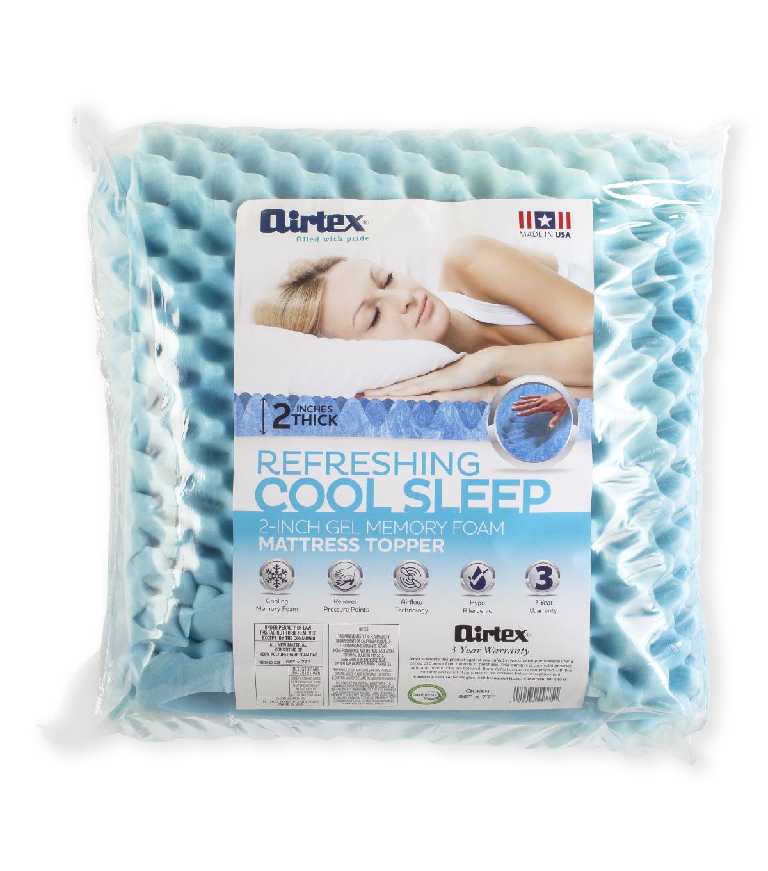 Airtex 2 Inch Gel Memory Foam Mattress Topper Queen Joann